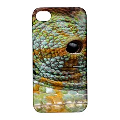 Macro Of The Eye Of A Chameleon Apple Iphone 4/4s Hardshell Case With Stand
