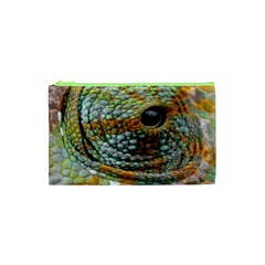 Macro Of The Eye Of A Chameleon Cosmetic Bag (xs) by Simbadda