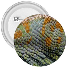 Macro Of Chameleon Skin Texture Background 3  Buttons by Simbadda