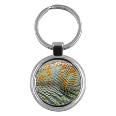 Macro Of Chameleon Skin Texture Background Key Chains (round)