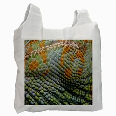 Macro Of Chameleon Skin Texture Background Recycle Bag (two Side)  by Simbadda