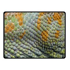 Macro Of Chameleon Skin Texture Background Fleece Blanket (small) by Simbadda