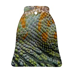 Macro Of Chameleon Skin Texture Background Bell Ornament (two Sides) by Simbadda