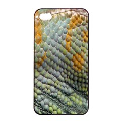 Macro Of Chameleon Skin Texture Background Apple Iphone 4/4s Seamless Case (black) by Simbadda