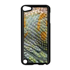 Macro Of Chameleon Skin Texture Background Apple Ipod Touch 5 Case (black) by Simbadda