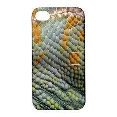 Macro Of Chameleon Skin Texture Background Apple Iphone 4/4s Hardshell Case With Stand by Simbadda
