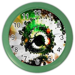 Fractal Universe Computer Graphic Color Wall Clocks