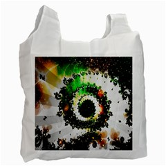 Fractal Universe Computer Graphic Recycle Bag (two Side)