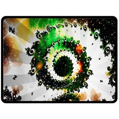 Fractal Universe Computer Graphic Double Sided Fleece Blanket (large)  by Simbadda