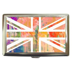 Union Jack Abstract Watercolour Painting Cigarette Money Cases by Simbadda
