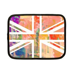 Union Jack Abstract Watercolour Painting Netbook Case (small)  by Simbadda
