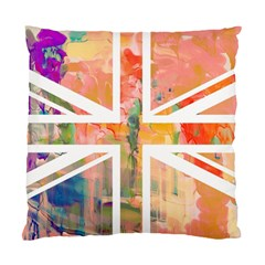 Union Jack Abstract Watercolour Painting Standard Cushion Case (one Side) by Simbadda