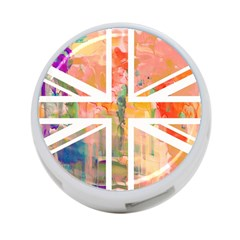 Union Jack Abstract Watercolour Painting 4 Port Usb Hub (two Sides)  by Simbadda