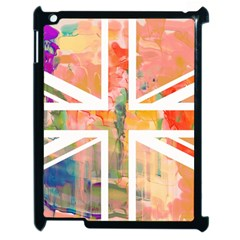 Union Jack Abstract Watercolour Painting Apple Ipad 2 Case (black) by Simbadda