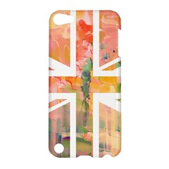 Union Jack Abstract Watercolour Painting Apple Ipod Touch 5 Hardshell Case by Simbadda