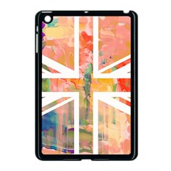 Union Jack Abstract Watercolour Painting Apple Ipad Mini Case (black)