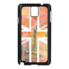 Union Jack Abstract Watercolour Painting Samsung Galaxy Note 3 N9005 Case (black) by Simbadda