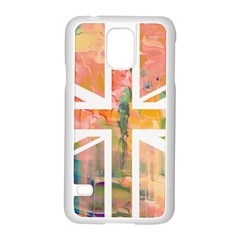 Union Jack Abstract Watercolour Painting Samsung Galaxy S5 Case (white) by Simbadda