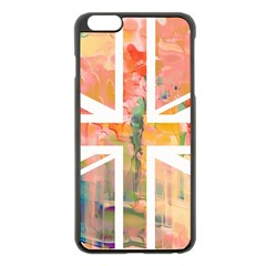 Union Jack Abstract Watercolour Painting Apple Iphone 6 Plus/6s Plus Black Enamel Case by Simbadda