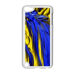 Blue And Gold Fractal Lava Apple Ipod Touch 5 Case (white)