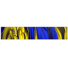 Blue And Gold Fractal Lava Flano Scarf (large)