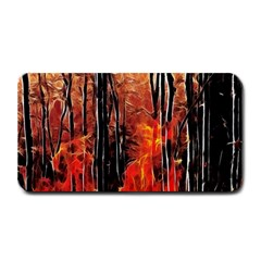 Forest Fire Fractal Background Medium Bar Mats