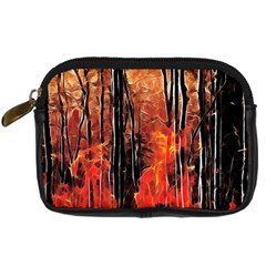 Forest Fire Fractal Background Digital Camera Cases by Simbadda