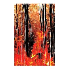 Forest Fire Fractal Background Shower Curtain 48  X 72  (small)  by Simbadda