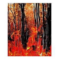Forest Fire Fractal Background Shower Curtain 60  X 72  (medium)  by Simbadda