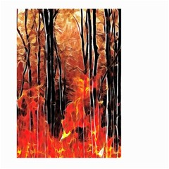 Forest Fire Fractal Background Large Garden Flag (two Sides) by Simbadda