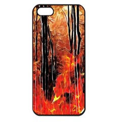 Forest Fire Fractal Background Apple Iphone 5 Seamless Case (black) by Simbadda