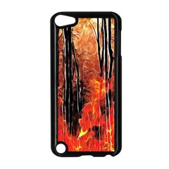 Forest Fire Fractal Background Apple Ipod Touch 5 Case (black) by Simbadda