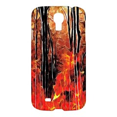 Forest Fire Fractal Background Samsung Galaxy S4 I9500/i9505 Hardshell Case by Simbadda