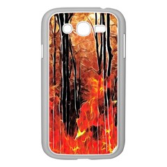Forest Fire Fractal Background Samsung Galaxy Grand Duos I9082 Case (white)