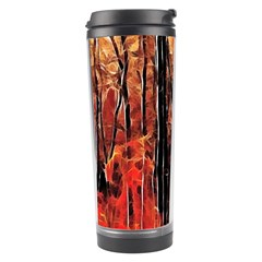Forest Fire Fractal Background Travel Tumbler by Simbadda
