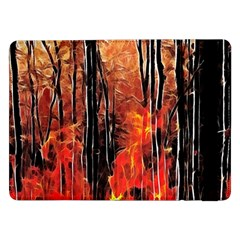 Forest Fire Fractal Background Samsung Galaxy Tab Pro 12 2  Flip Case by Simbadda