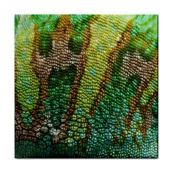 Colorful Chameleon Skin Texture Tile Coasters