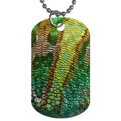 Colorful Chameleon Skin Texture Dog Tag (two Sides) by Simbadda