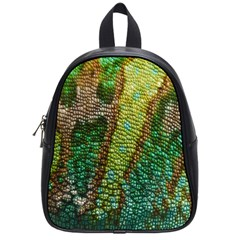 Colorful Chameleon Skin Texture School Bags (small)  by Simbadda