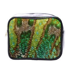 Colorful Chameleon Skin Texture Mini Toiletries Bags