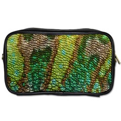 Colorful Chameleon Skin Texture Toiletries Bags by Simbadda