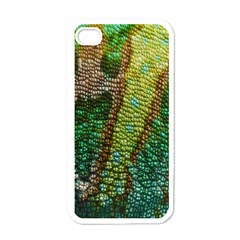 Colorful Chameleon Skin Texture Apple Iphone 4 Case (white)