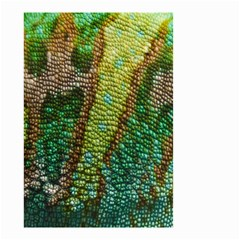 Colorful Chameleon Skin Texture Small Garden Flag (two Sides) by Simbadda