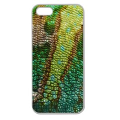 Colorful Chameleon Skin Texture Apple Seamless Iphone 5 Case (clear) by Simbadda