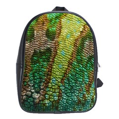 Colorful Chameleon Skin Texture School Bags (xl)  by Simbadda