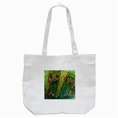 Colorful Chameleon Skin Texture Tote Bag (white) by Simbadda