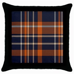 Tartan Background Fabric Design Pattern Throw Pillow Case (black)