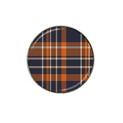 Tartan Background Fabric Design Pattern Hat Clip Ball Marker (4 Pack) by Simbadda