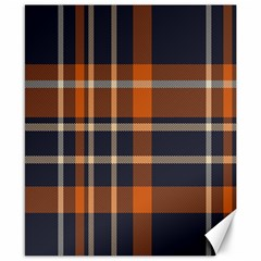 Tartan Background Fabric Design Pattern Canvas 8  X 10  by Simbadda