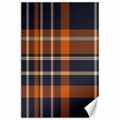 Tartan Background Fabric Design Pattern Canvas 24  X 36